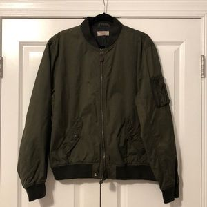 Wallace & Barnes for J. Crew Olive Bomber Jacket